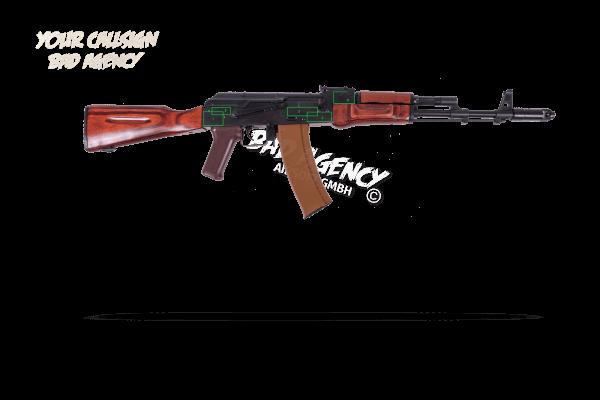 Gravur Waffen Typ AK74