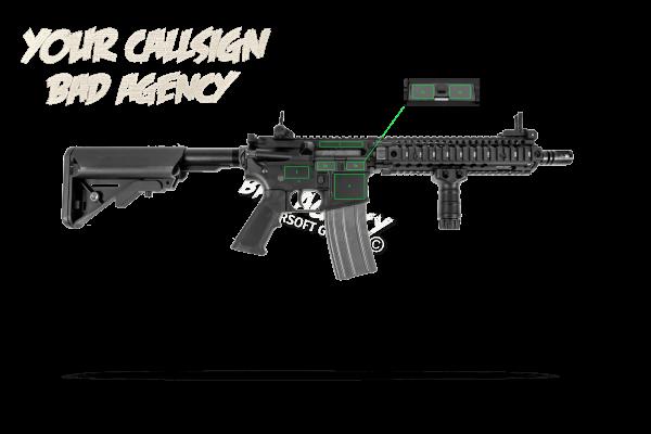 Gravur Waffen Typ AR15